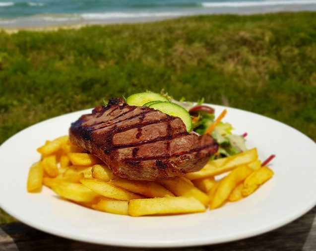 Sirloin special at the Hoey Moey Coffs Harbour